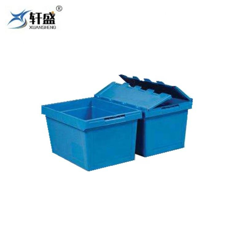PP Material No Foldable Plastic Moving Crate Turnover Box