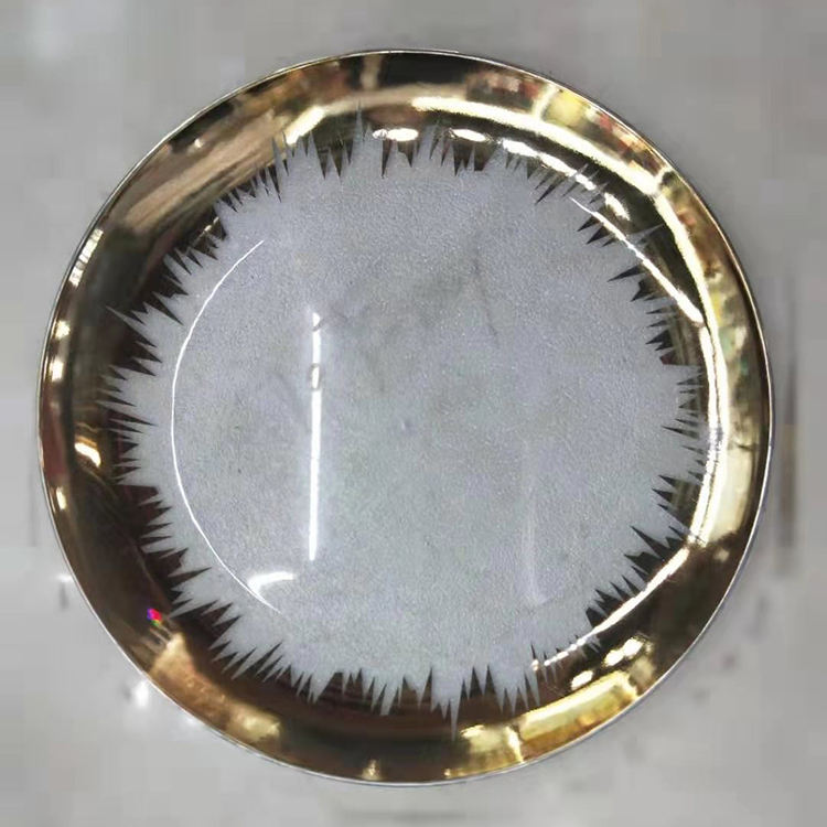 13inch new gold rim transparent pp plastic wedding charger plate