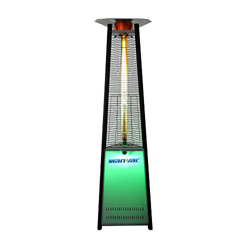 Contemporary pyramid outdoor LED natural gas outdoor patio heater
