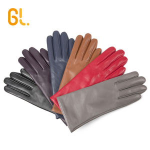 BW101A-W Girls Ladies Wholesale Fashion Genuine Winter Lambskin Sheepskin Driving Wool lining Leather Gloves for Women