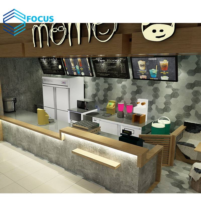 Profession Unique Eco-friend Wood Cafe Shop Interior Coffee Kiosk Design Cafe Furniture Wholesale