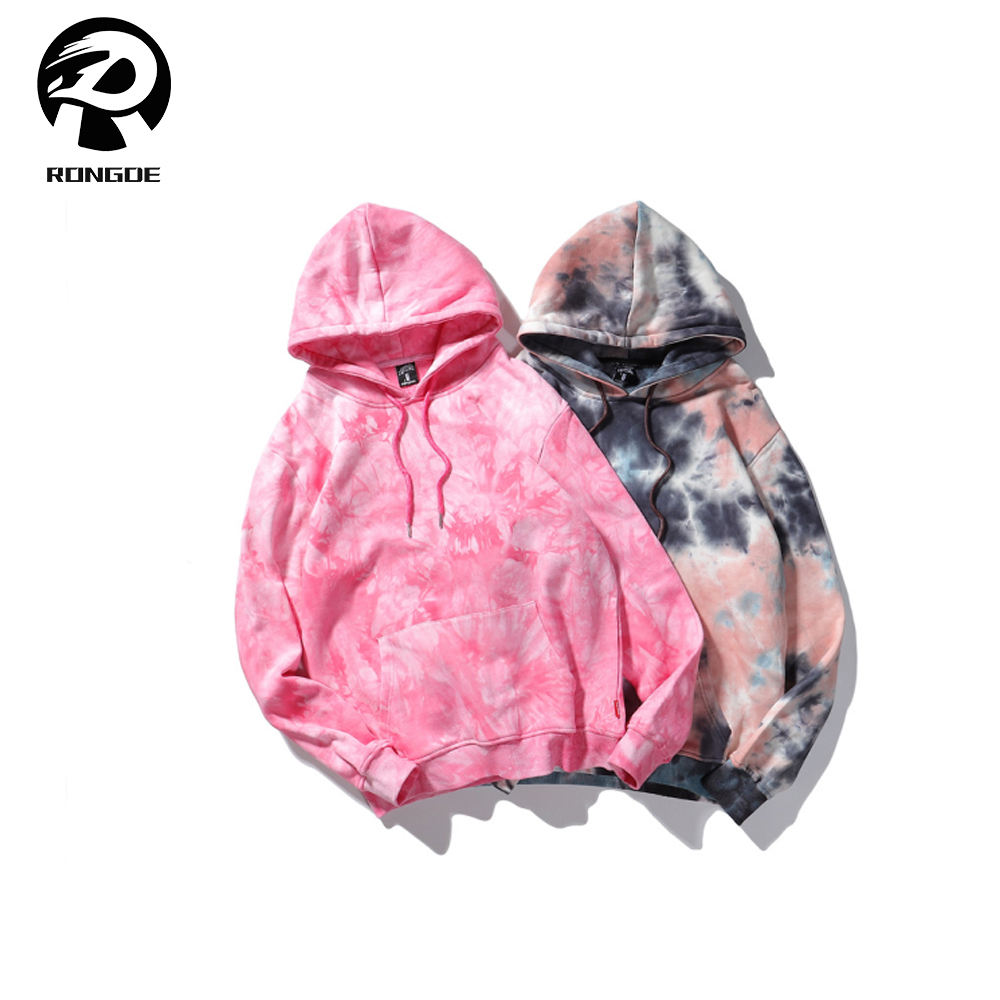 Wholesale pull over high quality manufacturers custom tie dye hoodie for men