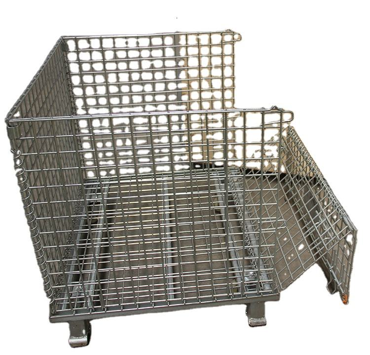 Stainless Wire Mesh Basket Stainless Steel Wire Mesh Container Shelf Wire Butterfly Cage Shed Finishing Basket