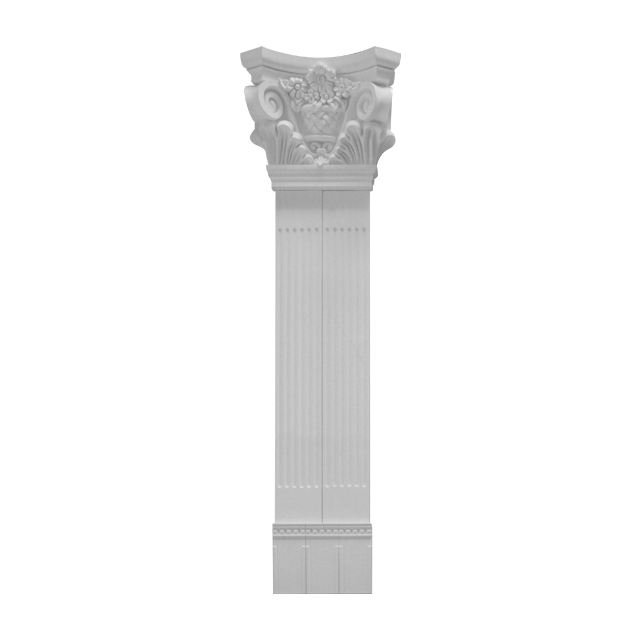 Artistic Gypsum Plastic PU Roman Pillar For Indoor And Outdoor Decoration