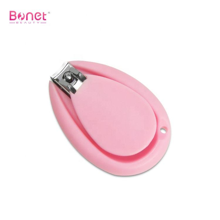 BNC0119 Professional cute stainless steel plastic kids finger nail cutter manicure mini baby nail clipper
