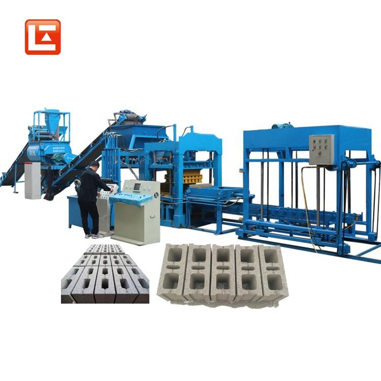 QTJ6-15 Automatic hydraulic cement hollow interlock paving blocks machine 42kw interlocking brick machine