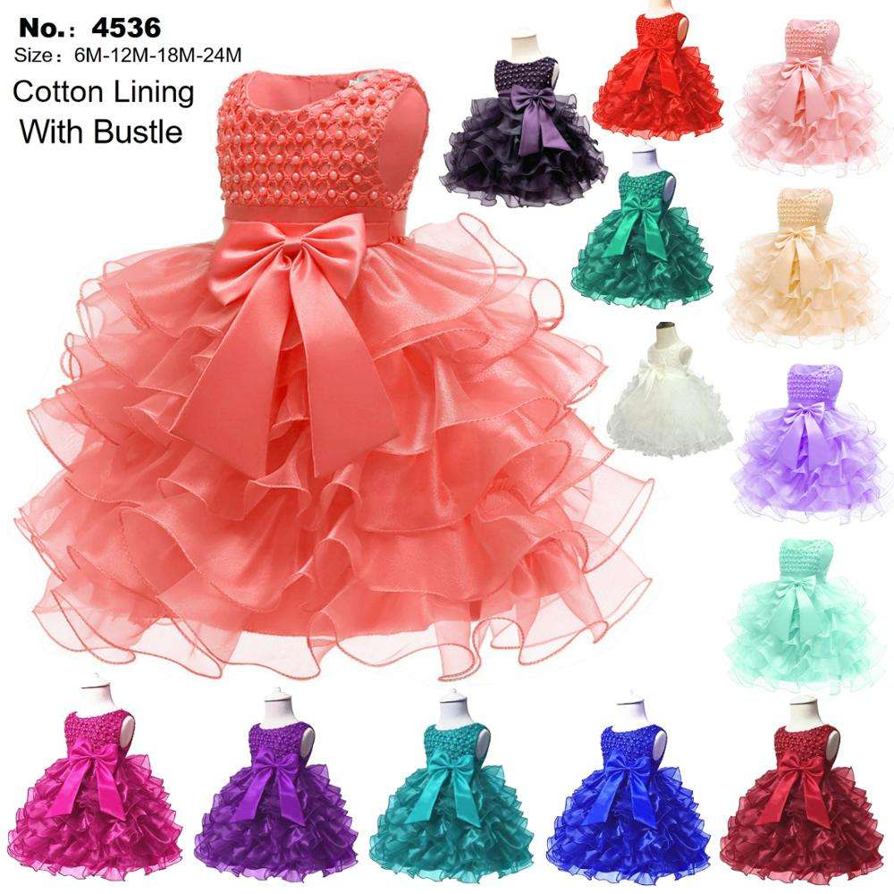 YuShang Cute Long Sleeve Knitted Bow Tulle Tutu Princess Dress for Baby Girls
