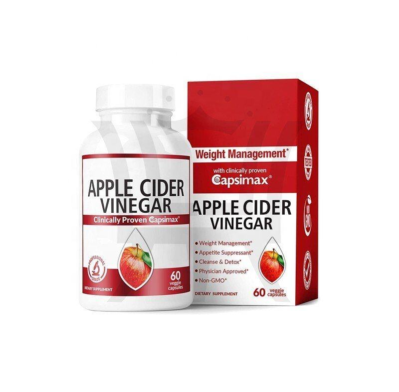 Raw Apple Cider Vinegar Enrich With Red Pepper Extract And Ginger Root Support Weight Management, ,Appetite Suppressant, Clease