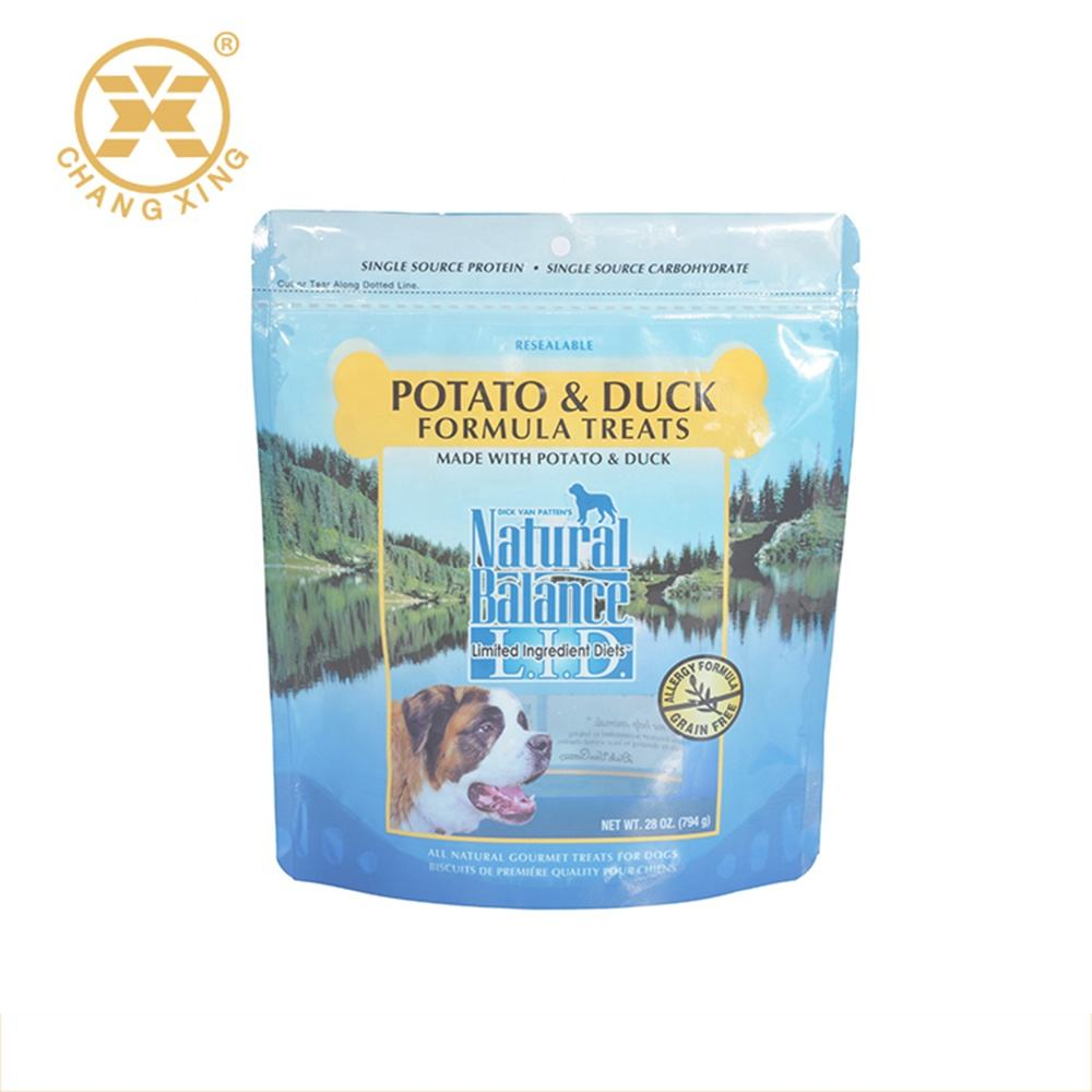 Eco friendly zip lock bag cat and dog food bags packing dog travel food bag