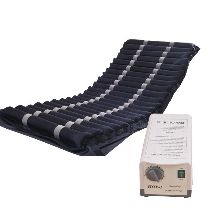 "4"" Anti-Decubitus Air Mattress Alternating Pressure Mattress Overlay Pad System with pump"