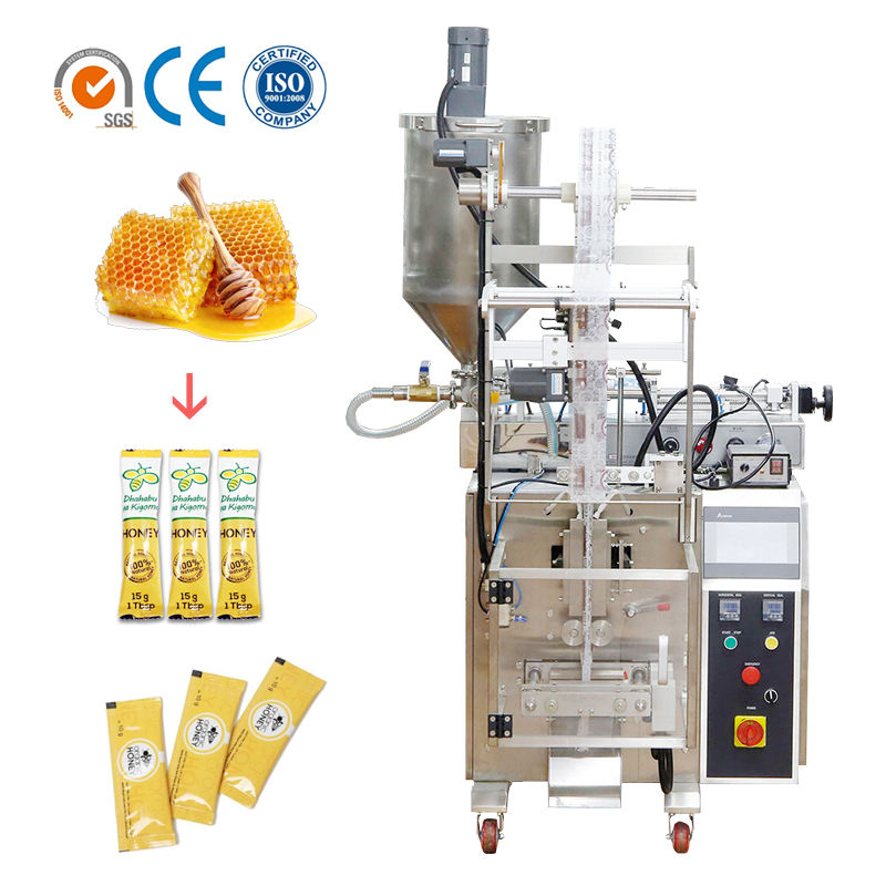 Factory price automatic 1-60ml stick sachet honey packing oil filling machine made in foshan