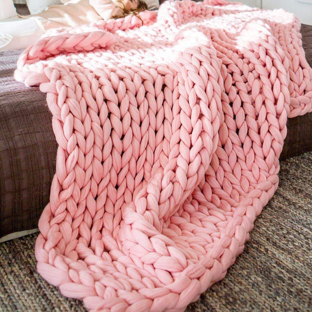 wholesale chunky knit blankets for winter sale plaid baby throw soft warm faux wool blanket