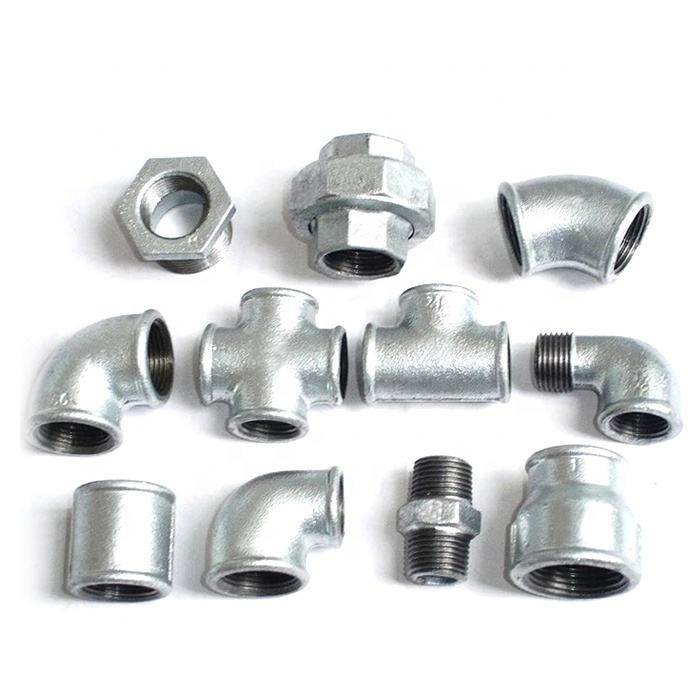 Manufacture En10242 Galvanized Black Thread Plumbing Malleable Casting Iron Pipe Fittings