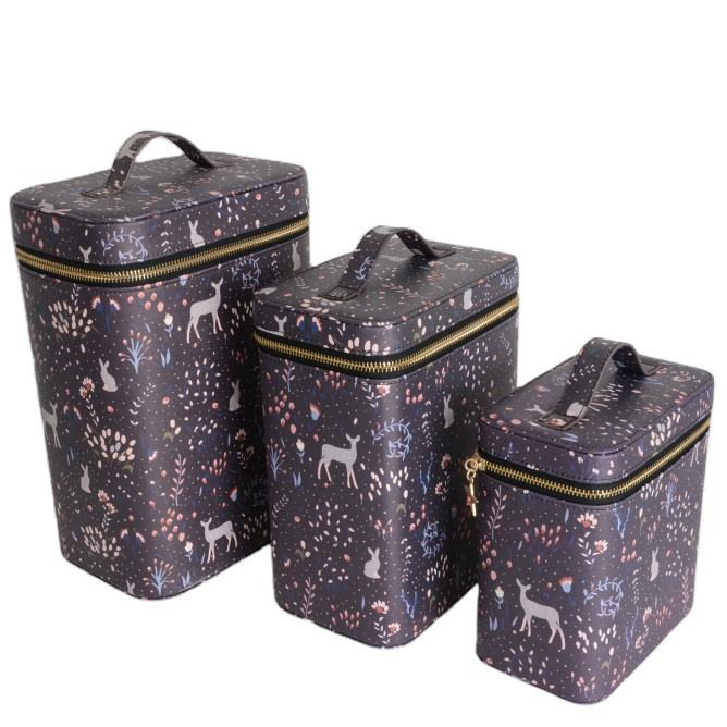 Luxury custom travel makeup cases large capacity wholesale cheap cosmetic bags