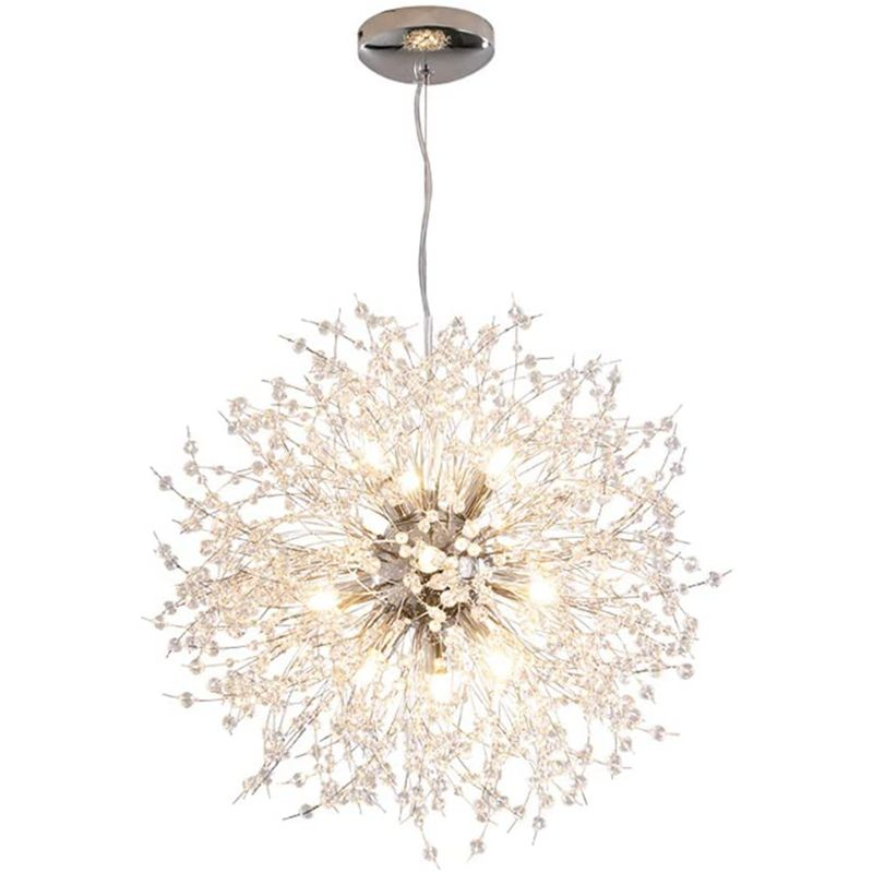 LuKLoy Post Modern Dandelion Pendant Light Crystal Chandelier Living Room Bedroom Shop LED Loft Drop Shipping Lighting Fixture