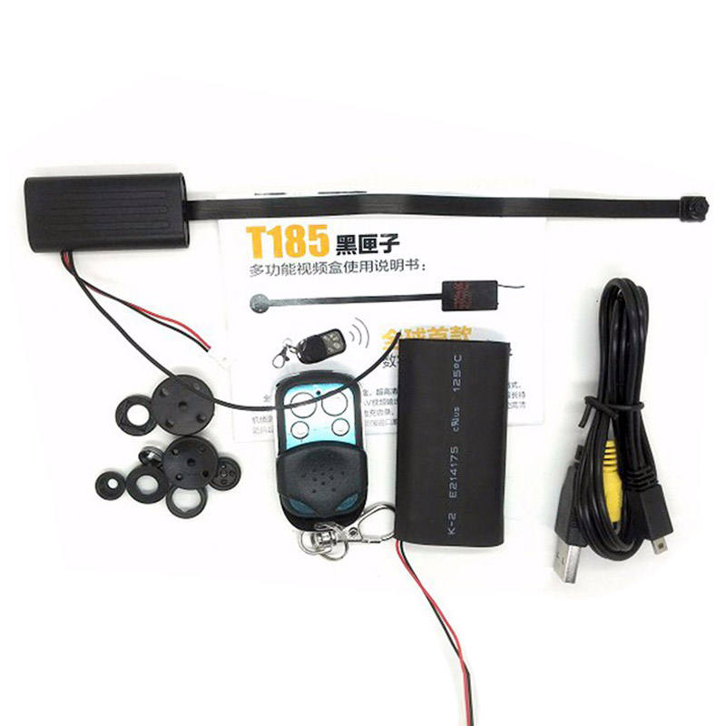 T186 Remote Control Spy Camera With Battery Long Time Recording Mini CCD Module Portable Button Cam Invisible High Resolution