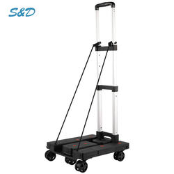 Guangzhou Lightweight Aluminum Personal Portable Hand Folding Moving Shopping Cart Trolley Wheeled Detalle