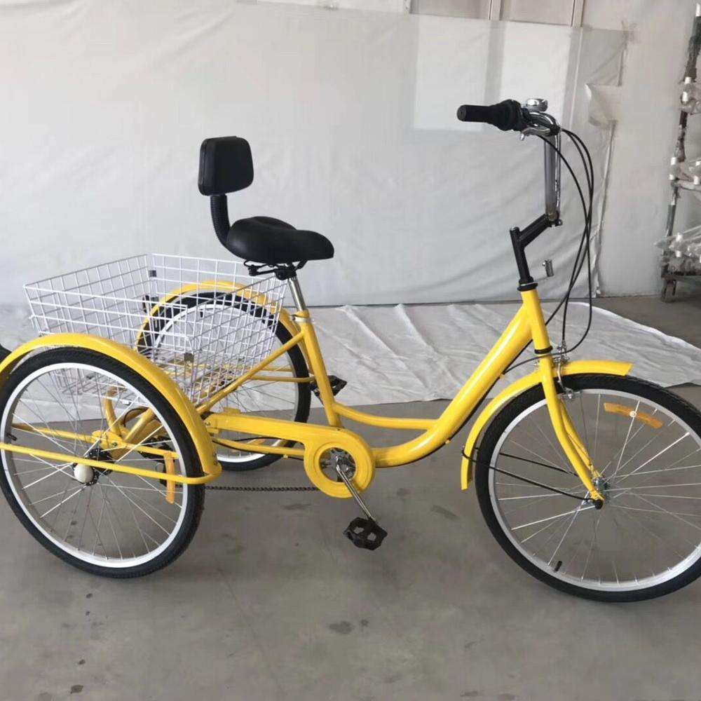 China Cheap Price Tricycle Bicycle 3 Wheels Cargo Tricycle 24 Inch
