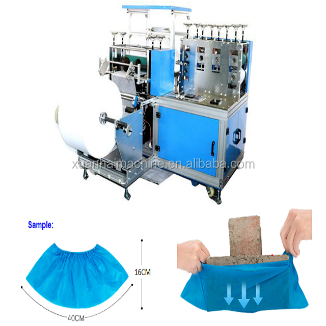 Nonwoven Medical Shoes Cover for Dust-free Plant Making Machine Manufacturing Plant Hot Product 2019 Provided XUANHAI CN;ZHE