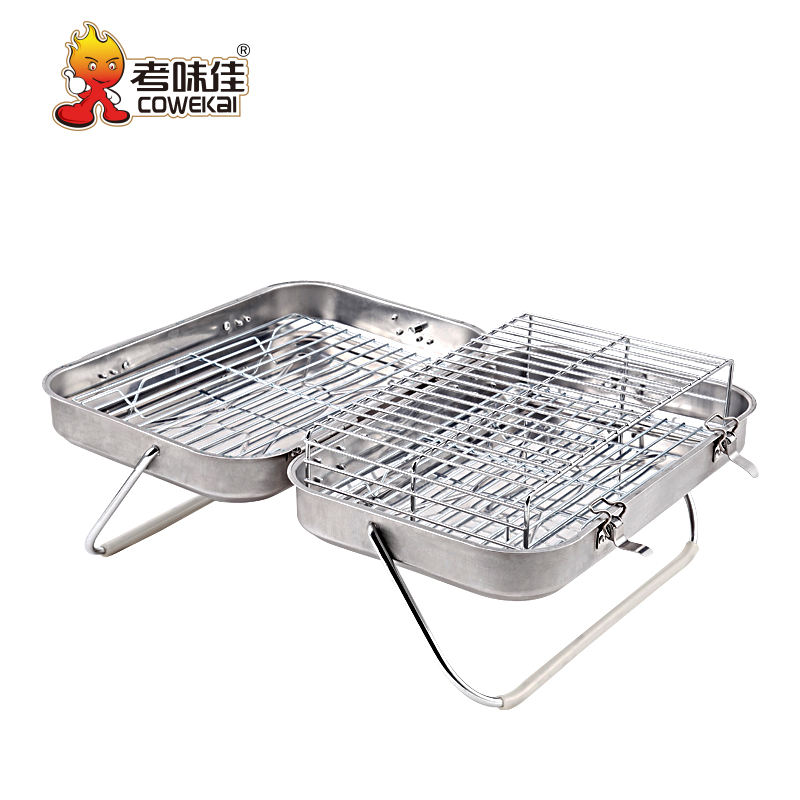 Table Top Stainless Steel Folding Charcoal BBQ Grills For Skewers