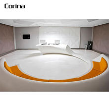 new style artificial stone round shape reception desk