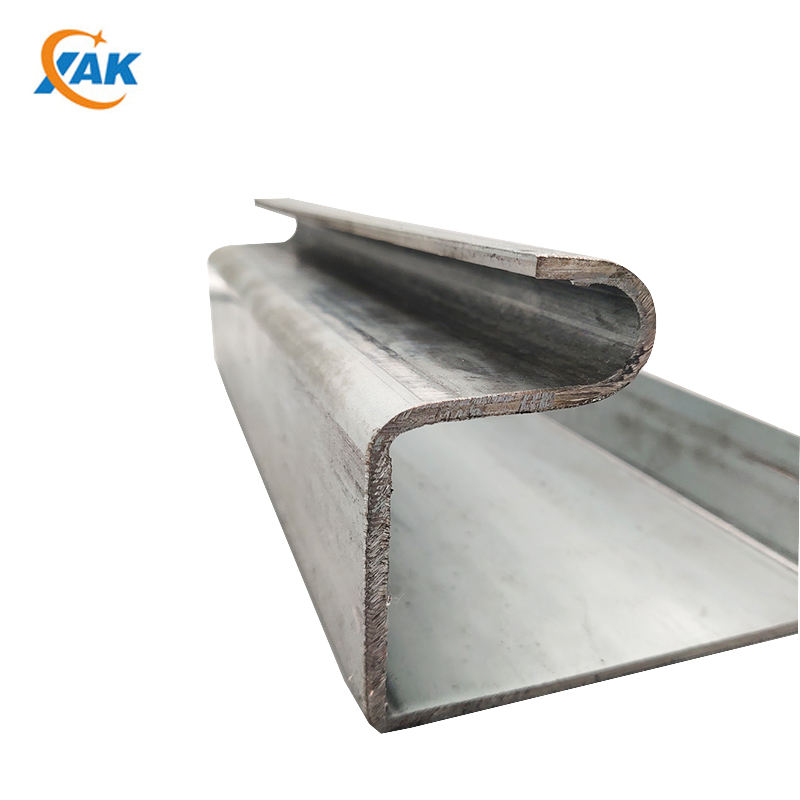 XAK OEM Cold Formed Special Steel Galvanized Steel Metal U Shape Channel Profile Size