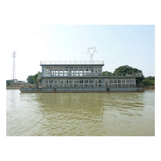 Second Hand Boat Used Boat 36M Steel Pontoon for Restaurant Steel Barge for Wedding Party Dinning Boat