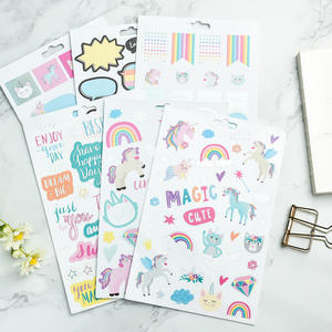 OEM reusable custom sticker book kids unicorn planner sticker book Activity Cartoon Sticker collecting book