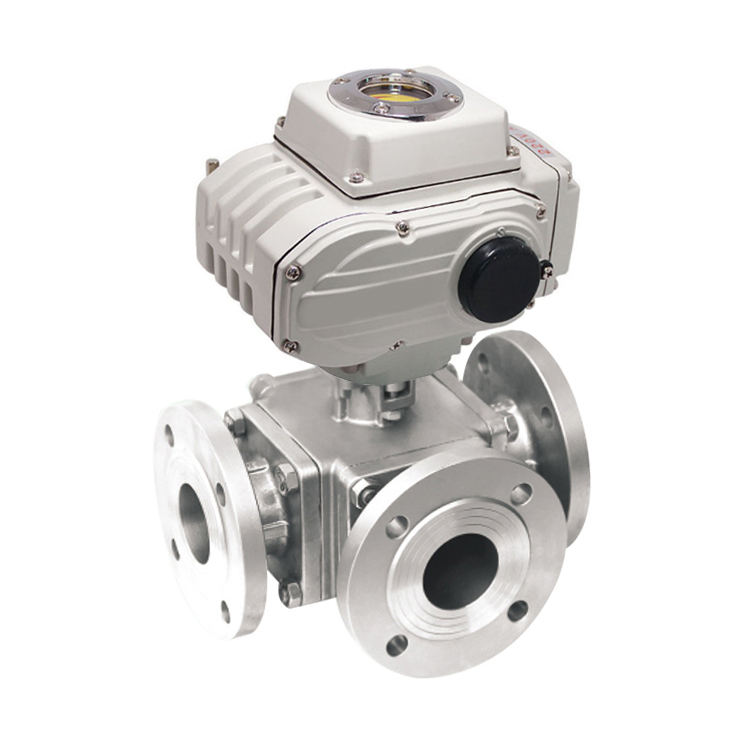 Industrial Cheap PTFE Seat Flange Float Three 3 Way 4 Inch SS Electric Stainless Steel Motorized Ball Valve