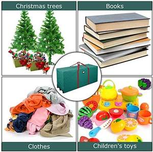 Large Capacity Rolling Duffel Box Christmas Tree Storage Bag Dust proof Holiday Decorations Storage Case