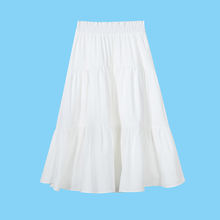 Wholesale polyester cotton comfortable ladies skirt