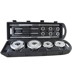 Weight Lifting Adjustable Cast Iron Chrome Dumbbell Set