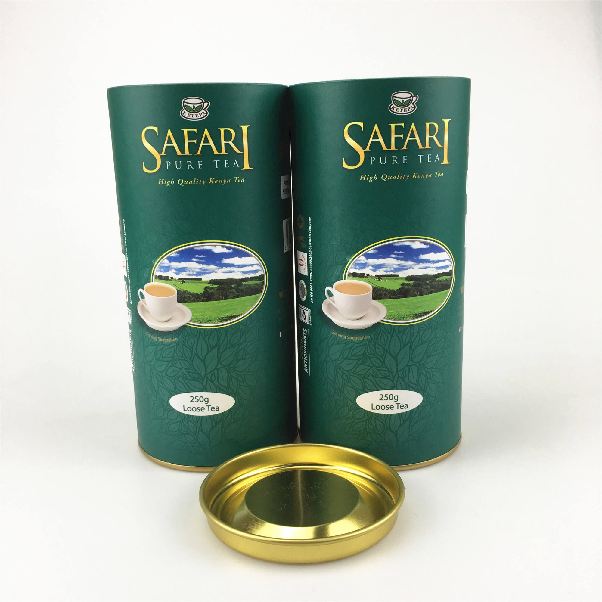 Custom Metal Cover Lid Wholesale Tea Packaging Paper Can