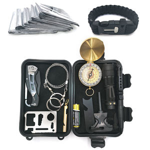 Professional 10 in 1 EDC Outdoor Equipment Tools Survival Kit for Trekking