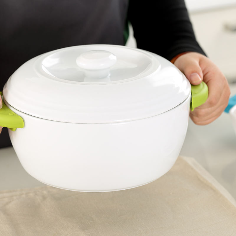 China Manufacturer High Quality Thermal Insulated Ceramic Baking Dish Bowl Casserole With Lid
