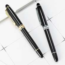 Business Gift High end Classic Black Metal Roller Ball Pen with Silm Gel Rolling Ball Refill Waterproof ink Fine Tip