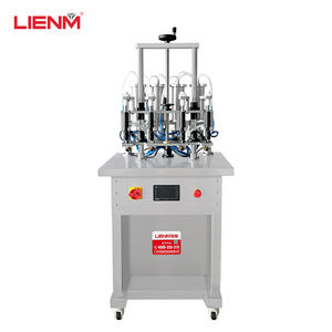 Convenient Operate 4 Heads Semi Automatic Perfume Spray Filling Machine For Perfume Glass Plastic Bottle Filler