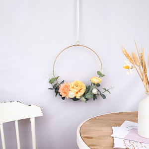 New arrive felt flowers artificial China supplier decorative flowers   wreaths Wedding flowers Rings