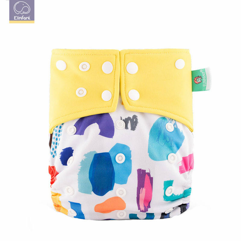 Elinfant one size washable cloth diaper coffee fiber reusable diaper