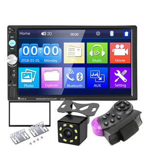 7023B 2 Din Car Multimedia Audio Player Stereo Radio 7 inch Touch Screen HD MP5 Player Support Bluetooth FM Camera SD USB