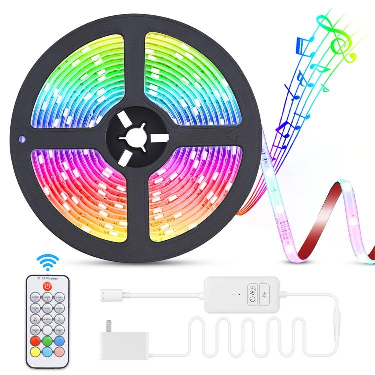 waterpoof IP65 DC 24V 5050 rgb controlled Remote control led strip light with music sensor for party