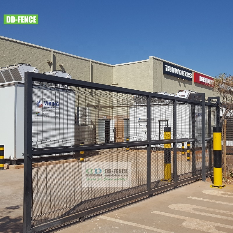 Quality Auto large 6-9 opening industry sliding gate and fencing supplier manufacturer DD-Fence