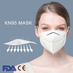High Quality 5ply Disposable Non-Woven Kn95 Face Mask Earloo