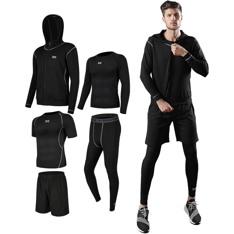 Mens Custom Compression Gym Fitness Wear Men Sport Clothing Quick Dry Workout Set