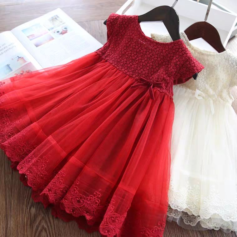 Factory Wholesale High Quality Sleeveless Mixed Color Kids Clothes Girls Dress