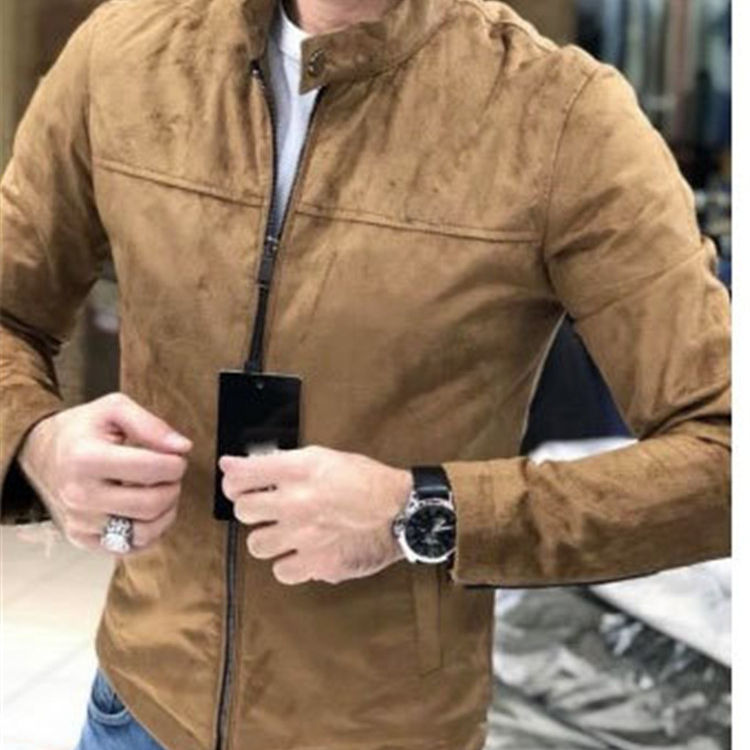 Hot selling High Quality Men's Rough Suede Jacket