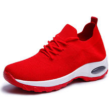 The new style of women's fashion sports shoes fly knit breathable mesh leisure shoes wholesale