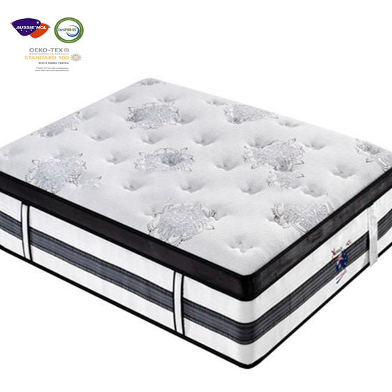 Top Gel Cool Memory Foam/Latex Pocket Sping Matras 14 Inch Euro Dual Hotel King/Queen Size Matras