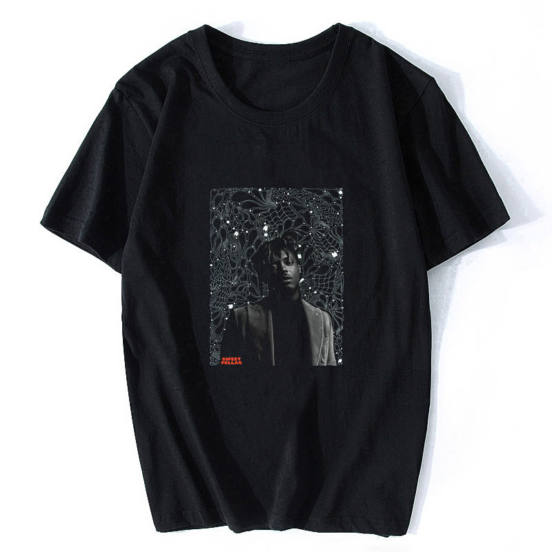 Juice World Black T-Shirt Men Gothic Rip T-Shirt Hiphop 2021 Oversize Street wear Rest In Peace Legend T Shirt