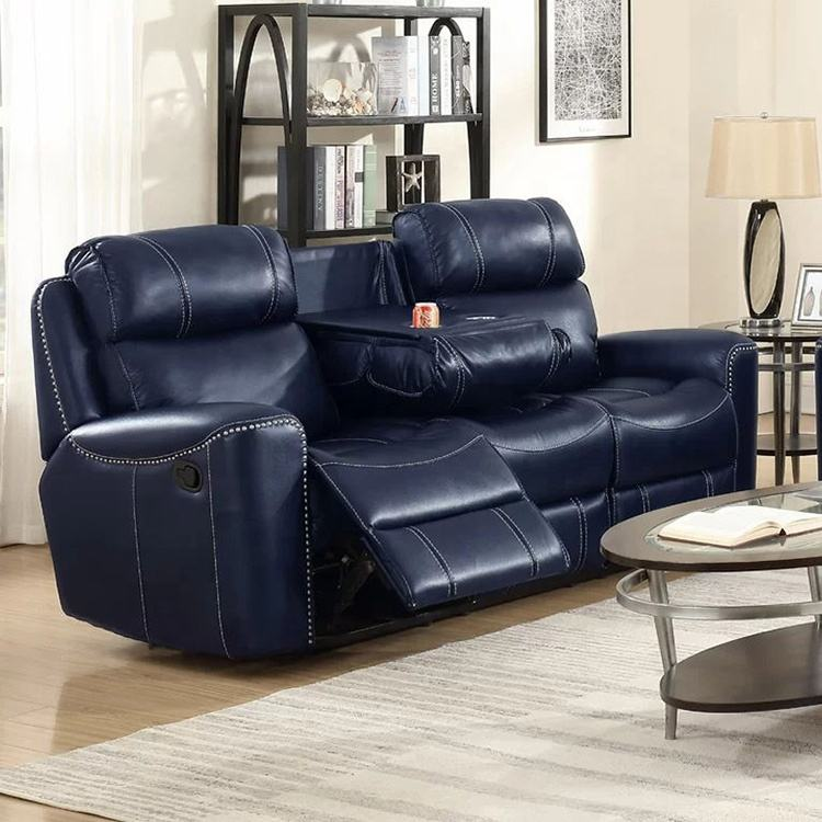 India Designs Tv Sectional Leather Recliner Sofa Set in sofas,sectionals & loveseats
